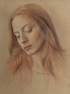 "Saatchi Art Artist William Wu; Drawing, ""Portrait of women"" #art"