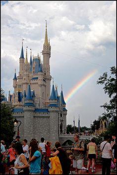 Rainbow by the Magic Kingdom at Disney World :)