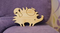 Puzzle made of wood, composed of 3 parts (hedgehog, apple, mushroom). Puzzles length is 5.8 inches (14.8 cm), height - 3.5 inches (9 сm), thickness 0.6 inch (1.4 cm). Puzzle is carefully polished by hand from all sides. Surface is smooth and pleasant to the touch! Toy is impregnated with linseed oil, so the toy remains clean after the game. Interesting, developing and fully ecological toy made by hand. Toy trains logical thinking, patience, attention, fine motor skills and memory.