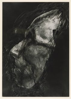 Arnulf Rainer (born 1929). Untitled (Death Mask),Ohne Titel (Totenmaske), 1978, Ink and photograph on paper,  592 x 415 mm, Collection Tate.