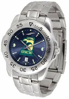 North Carolina At Wilmington, University Of Sport Steel Band Ano-chrome - Men's - Men's College Watches by Sports Memorabilia. $59.95. Makes a Great Gift!. North Carolina At Wilmington, University Of Sport Steel Band Ano-chrome - Men's