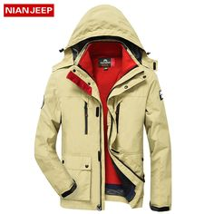 53.53  Watch now - NIAN JEEP New 2017 Winter Warm Jacket Men Casual Brand  Waterproof 1d9352341