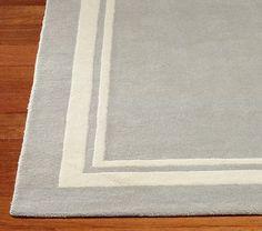 found it at dwellstudio - draper stripe dove & lemon rug | baby