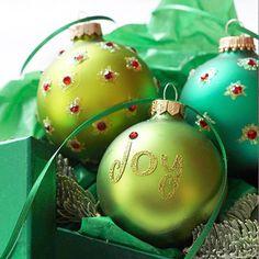Elegant Handmade Ornaments: Joyful Christmas Ornament
