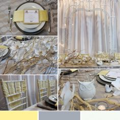 Yellow and ivory table design