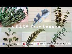 6 EASY FELT LEAVES - #DIY Felt Leaves Making - S Nuraeni - YouTube Felt Flower Tutorial, Felt Leaves, Wet Felting, Youtube, Felt Flowers, Projects To Try, Felt Projects, Hello Everyone, Cactus Plants