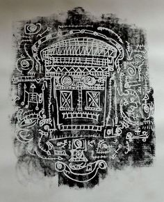 La mirada de Breogan  Xilografía  90x70 1/20 500 euros