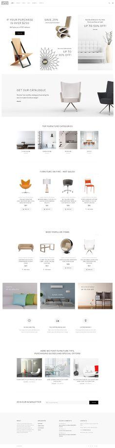 Template 62272 - Furni Furniture  Responsive Website Template