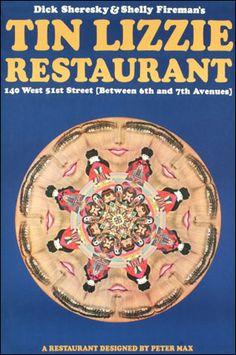 Tin Lizzie Restaurant    Peter Max 1967