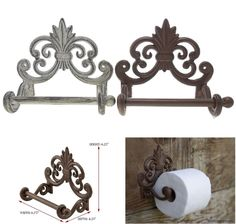Toilet Paper Holder Roll Vintage Antique Tissue Wall Mounted Bathroom Home Decor #ComfifyComfortforyourhome