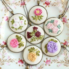 Lavender Purple Rose Ribbon Embroidery Brooch Shabby Chic Vintage Style Oval Antique Silver Plated Oval Pin - Size: 3 x 4 centimetres on the embroidered silk area - Each set comes with crafted gift box with carefully hand-tied satin ribbons. - Materials: silk ribbons, natural thai
