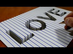 "Draw Word ""LOVE"" - Hole on Line Paper 3D Trick Art - YouTube"