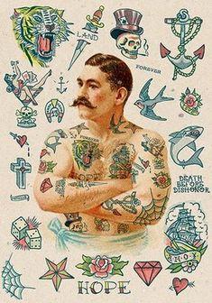tatuajes old school diseños para hombres