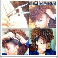 Fro Hawk this is how i want my mohawk to look but my hair isnt long enough an my natural coil is way tighter