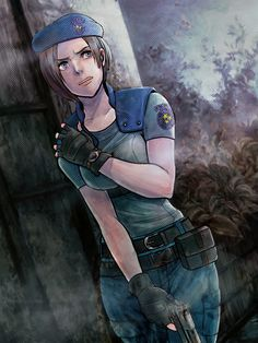 A community for fans of the Capcom series, Resident Evil, (aka Biohazard in Japan). Tyrant Resident Evil, Resident Evil Anime, Resident Evil Girl, Resident Evil 3 Remake, Jill Valentine, Valentines Art, Game Character, Character Design, Apocalypse