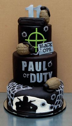 Call of Duty Cake by Not Just Cakes by Annie ...I would be the best girlfriend EVER if I got him this