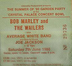 Bob Marley Crystal Place June 7th 1980