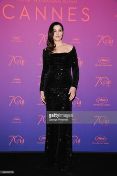Mistress of Ceremonies Monica Bellucci attends the Opening Gala dinner during the 70th annual Cannes Film Festival at Palais des Festivals on May 17, 2017 in Cannes, France.