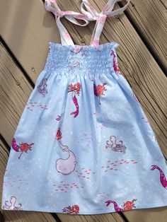 Shirred mermaid dress by ocecilia on Etsy, $28.00