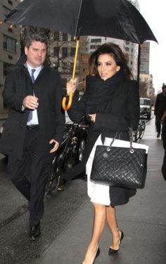 Eva Longoria with a Chanel bag