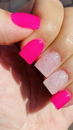 Short Square Acrylic Nails, Acrylic Nails Coffin Short, Best Acrylic Nails, Acrylic Nail Designs, Short Square Nails, Bling Acrylic Nails, Colored Acrylic Nails, Pink Glitter Nails, Blue Nails
