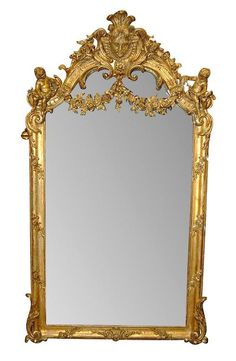 Late 19th Century French Giltwood mirror.        I Love this!