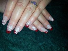 acrylic nails all dressed up for the festive season