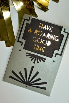 Roaring 20's Birthday Invitation made with Cricut Explore -- Aesthetic Nest. #DesignSpaceStar Round 3
