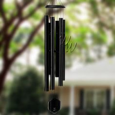 "Bells Of Vienna 65"" Black Wind Chime - Scale Of D#Our Black finish is a durable, textured matte black. One of Bells Of Vienna windchimes exceptionally popular colors. Classic and timeless, it transcends the fads and is always in style. #MadeintheUSA#Crafts"