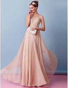 843509ac008c   179.99  Γραμμή Α Bateau Neck Μακρύ Σιφόν Φορέματα γάμου φτιαγμένα στο μέτρο  με Διακοσμητικά Επιράμματα με LAN TING BRIDE®   Νυφικά Με Χρώμα