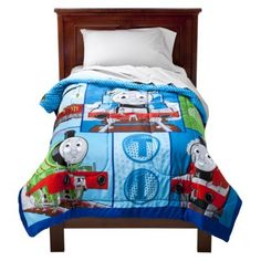 Thomas the Train Track Star Microfiber Comforter - Blue (Twin)
