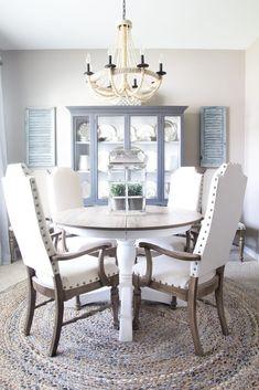 Weathered Oak Dining Table Makeover - Bless'er House Painted Dining Room Table, Oak Dining Table, Dining Room Design, Dining Chairs, Dining Table Makeover, Selling Your House, Farmhouse Table, Modern Farmhouse, Furniture Makeover