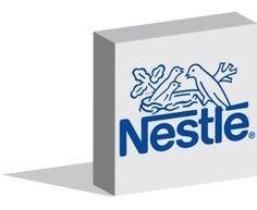 Nestle logotype in 3d form on ground - Editorial Use Only - Istanbul, Turkey - July 15, 2016 ~ Work of Stock Editorials by stock404.com