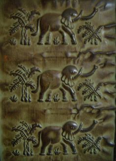 """Safari Elephant Room Divider soon to be listed on Chairish 70""""Wx72""""H"""
