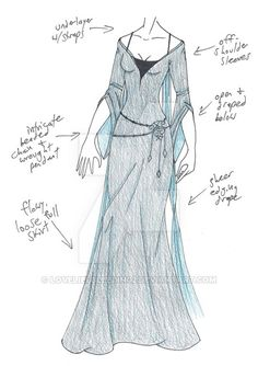 dress clothes designs sketches deviantart medieval drawing clothing sketch pieces loveliesbleeding2 outfits fantasy character mhcd p3 kin different