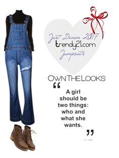 """""""Just Denim"""" by trendy21com on Polyvore featuring BLK DNM"""