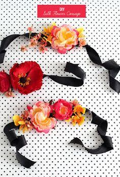 DIY - 5 passos fáceis para fazer as Corsages das suas madrinhas