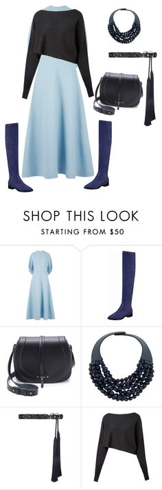 """Queen of blue"" by yoyostyle ❤ liked on Polyvore featuring Emilia Wickstead, Jérôme Dreyfuss, Fairchild Baldwin, Tory Burch, Crea Concept, fashiontips, StyleTips and outfitideas"