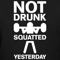 Squatted Yesterday #fitness #squats #legday #gymlife #gym #lifting #weightlifting #bodybuilding #funny #phrase #saying #quote #spreadshirt #djbdesign #shirt #tshirt #design #tee #tees