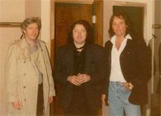 Rory and Dónal with local St. Louis musician Greg Edick at the Westport Playhouse, STL in '91.