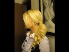 Demonstrates interesting effects to a side ponytail.....the twist around the back & wrap your ponytail holder with your hair. It's cute :)