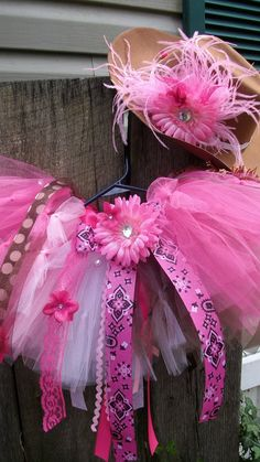 Custom Pink Bandana Cowgirl Birthday Tutu Outfit by TutuSassyGirlz, $79.00