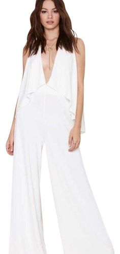 9e98267c7a07 Off White Patou -90s Minimalist In Sleek Wide Leg Cut Romper ...