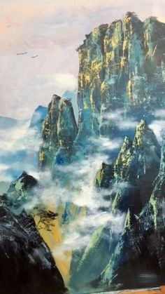 Landscape Art, Landscape Paintings, Oil Paintings, Amazing Paintings, Indian Paintings, Oil Painting Abstract, Sunrise Painting, Lake Painting, Winter Painting