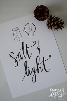 Matthew 5 13 14 believers are salt and light 13 you are for Salt and light tattoo