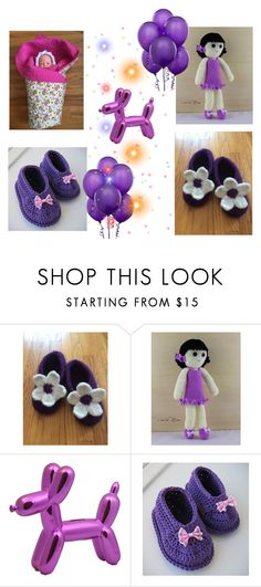 """""""For the Little ones in """"Purple"""""""" by artistinjewelry ❤ liked on Polyvore featuring Bambola"""