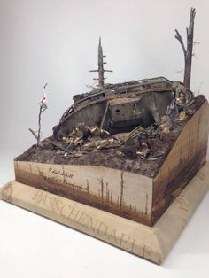 """I Died in Hell, They called it Passchendale"" 1/35th scale diorama (...)"