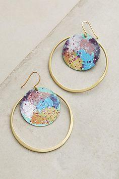 Slide View: 1: Galactic Hoop Earrings