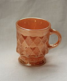 Anchor Hocking Fire King Kimberly mug in by modernlookvintage, $19.00