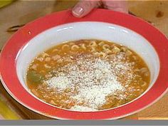Pasta and Beans: Pasta e Fagioli recipe from Rachael Ray via Food Network